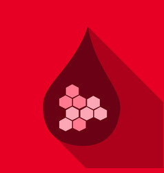 dna and molecule symbol a drop of blood icon with vector image