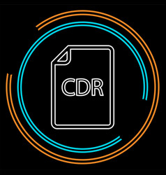 Download cdr document icon - file format vector