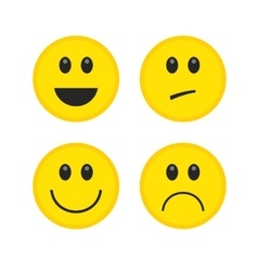 Emoticon style smile yellow face icons vector image