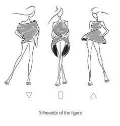 Fashion Model Silhouette vector image