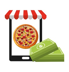 Fast food commerce vector