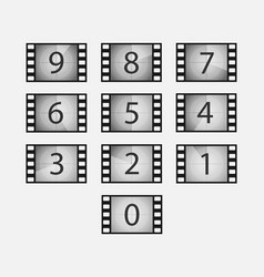 Film countdown set vector