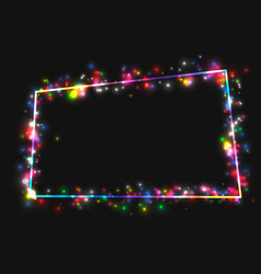 Frame in the frame of multi-colored lights vector