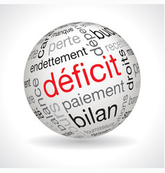 French deficit theme sphere vector