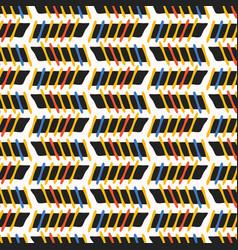 Geometric stripes seamless pattern memphis vector