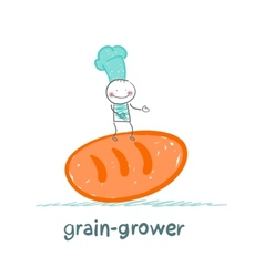 grain grower keeps bread vector image