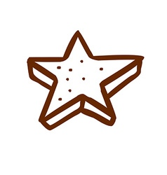 Hand drawn 3d star vector