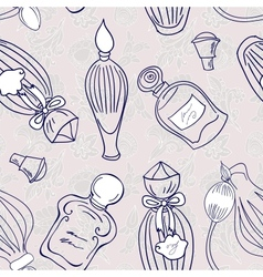Hand drawn perfume fragrances bottles vector image vector image