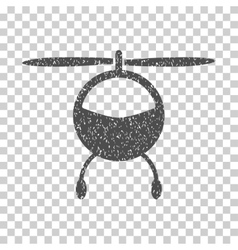 Helicopter Grainy Texture Icon vector
