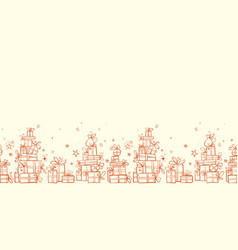 horizontal seamless pattern with piles gift vector image