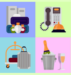Hotel personal professional service objects vector