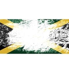 Jamaican flag Grunge background vector
