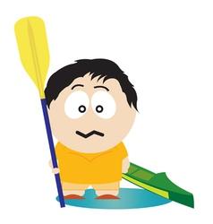kayaker vector image
