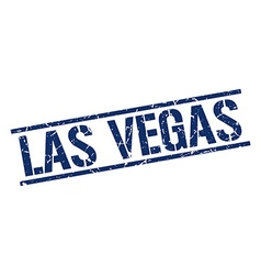 Las Vegas blue square stamp vector image