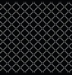 Lattice pattern with trendy lattice on a black vector