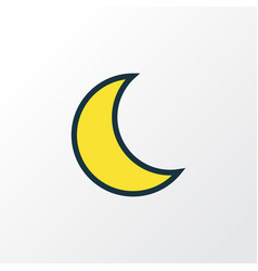 Lunar colorful outline symbol premium quality vector