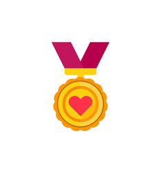 Medal for likes appreciation icon vector