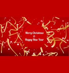 merry christmas and happy new year confetti vector image
