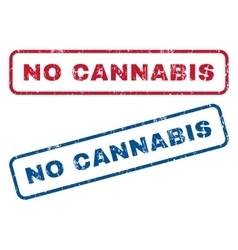 No Cannabis Rubber Stamps vector image