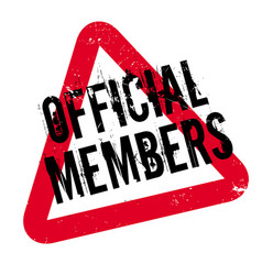 Official members rubber stamp vector