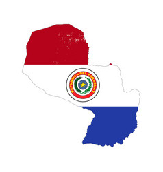 paraguay country silhouette with flag vector image