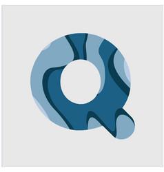Q water font template design vector
