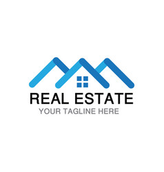 real estate business logo vector image