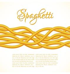 Realistic Twisted Spaghetti Pasta horizontal compo vector