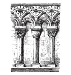 Romanesque arches an architectural style of vector