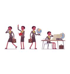 set of female professional teacher in school vector image
