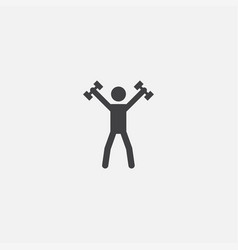 sport base icon simple sign sport vector image