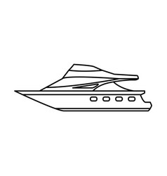 sport yacht isolated vector image
