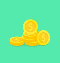 stack gold coins money vector image