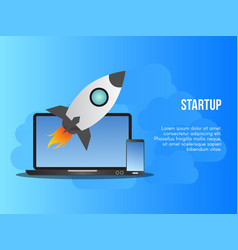 Startup business concept design template vector