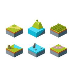 summer and winter natural landscape set game user vector image