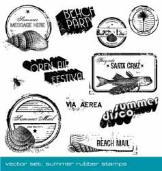 Summer stamps vector