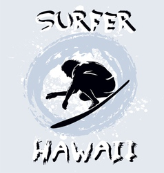 Surfer hawaii vector