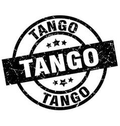 Tango round grunge black stamp vector