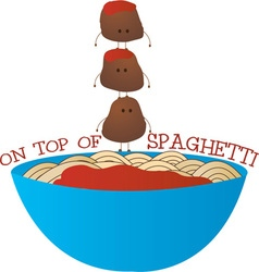Top Of Spaghetti vector image