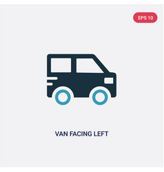 Two color van facing left icon from mechanicons vector