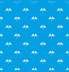 Two flags pattern seamless blue vector