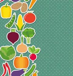 Vegetable seamless border pattern The image of vector