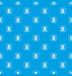 waste recycling pattern seamless blue vector image