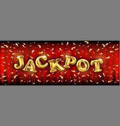 Winner banner with golden ballons jackpot banner vector