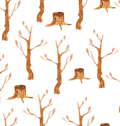 Autumn trees seamless pattern vector image vector image