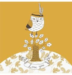 cheeky owl drawing vector image vector image