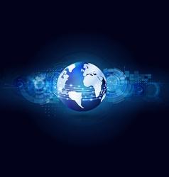 World communication and technology futuristic vector image