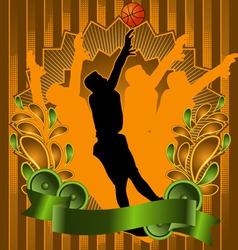 basketball vintage design vector image vector image