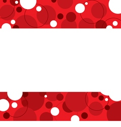 Red Graphic Background With White Space vector image