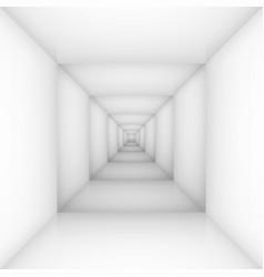 White empty room box for design vector